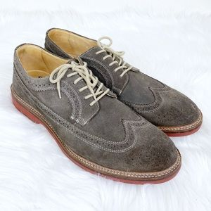 1901 Men's Suede Wingtip Brogue Dress Shoes